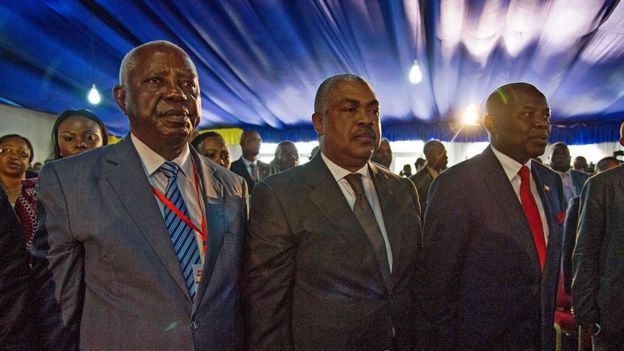 Vital Kamerhe (Dr), Samy Badibanga (C) and Dr Pierre Matusila (G)