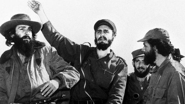 Castro entering Havana in 1959