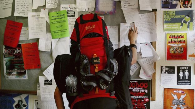 About 600,000 backpackers travel to Australia every year