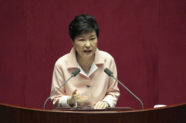 South Korean President Park Geun-Hye speaks during the opening ceremony of the 20th National Assembly on 10 June 2016 in Seoul, South Korea.