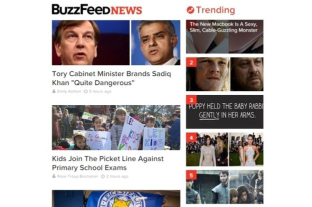 Buzzfeed trending topics