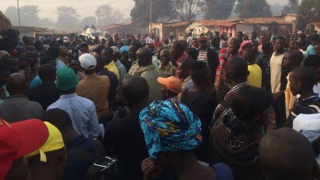 Crowds in Bangui