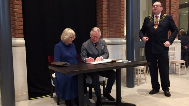 Prince of Wales and Duchess of Cornwall at Ferens Gallery in Hull