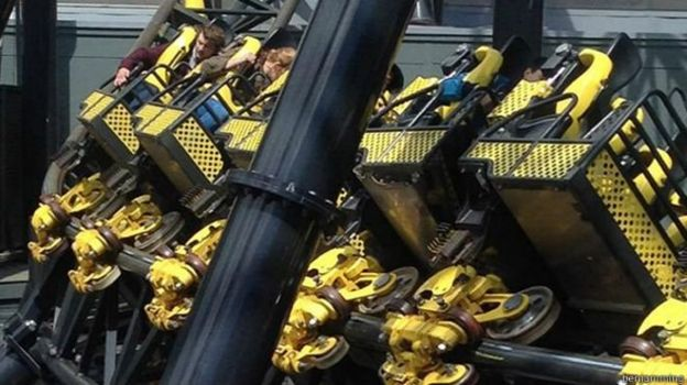 Accidente de Alton Tower, en Reino Unido.