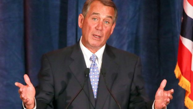 Former Speaker of the US House of Representatives John Boehner