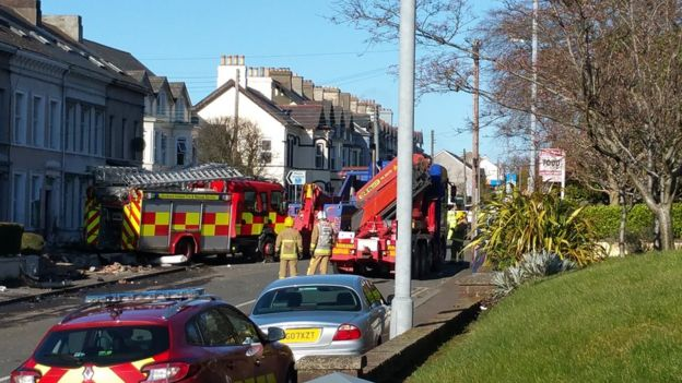 Preparations were being made to remove the fire engine on Saturday afternoon