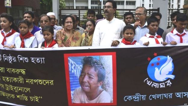 Protest in Bangladesh over the murder of teenager