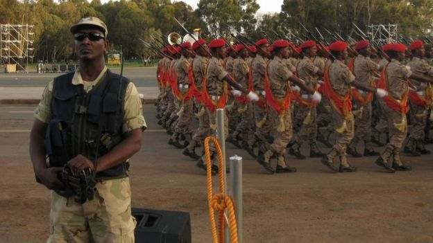 Cadets and policeman