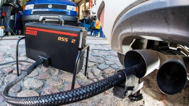 Emissions test on VW Golf