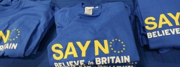 Say No to the EU t-shirts