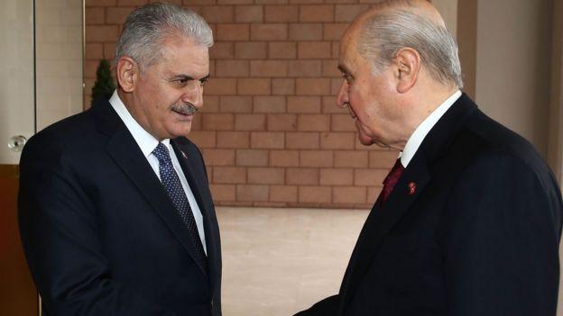 Başbakan Binali Yıldırım ve MHP lideri Devlet Bahçeli