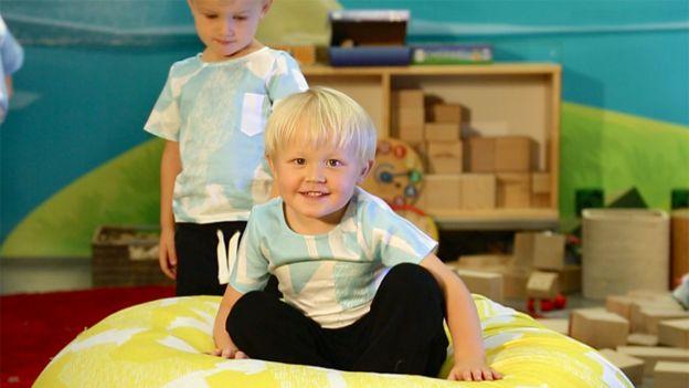 Niños en un jardín de infantes de Fun Academy