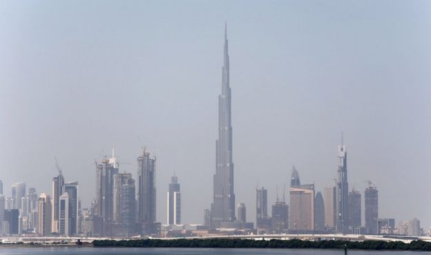 A view of Dubai skyline