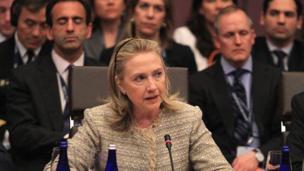 Hillary Clinton como secretaria de Estado