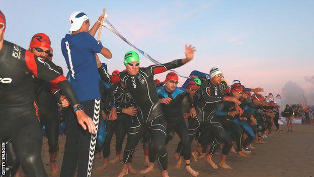 Ironman triathlon competitors