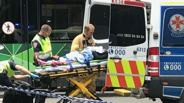 Paramedics treated as many as 20 people at the scene