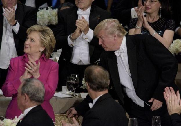 Clinton y Trump, en un evento de caridad.