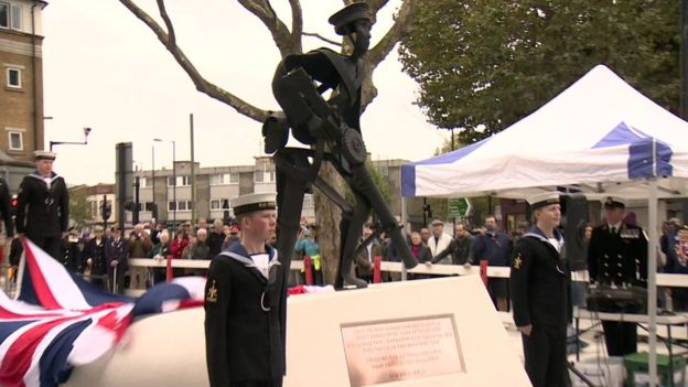 A statue in honour of Able Seaman Albert McKenzie