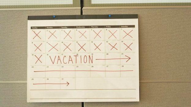 Un calendario con la palabra