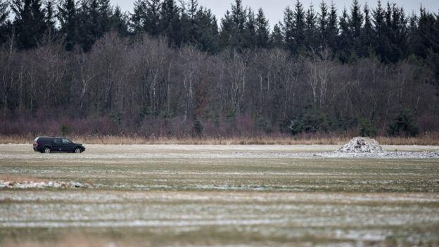 El campo donde Daniel Rom Kristiansen llevó a cabo su hallazgo con la ayuda de su padre cerca de Birkelse.