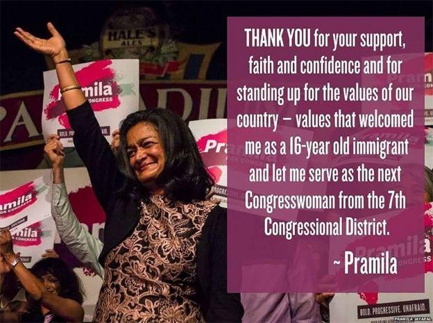 پرامیلا جایاپال، عضو منتخب مجلس نمایندگان از ایالت واشنگتن