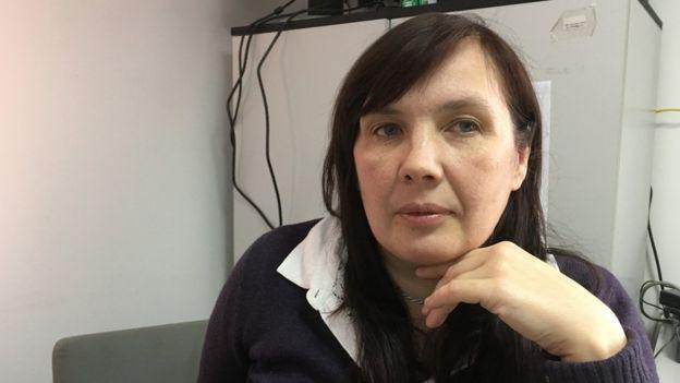 Alyona Sadikova, diretora do abrigo de mulheres