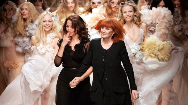 Sonia Rykiel, right, and her daughter presenting a collection in Paris in 2007