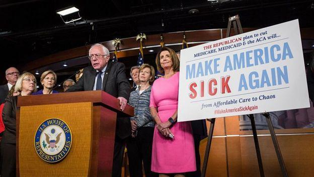 Democrats have mocked Trump saying he will 'make America sick again'