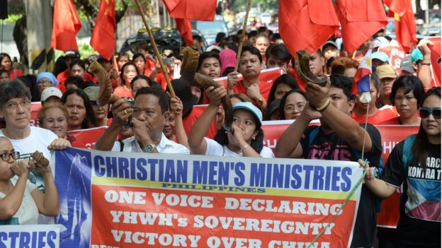 Vietnamese protest against China in Manila, Philippines
