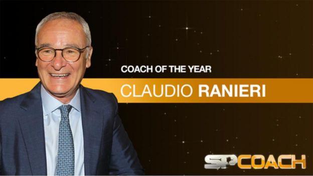 Kocha wa Leicester Claudio ranieri alishinda tuzo ya kocha bora wa mwaka Uingereza