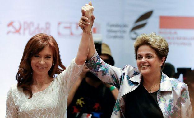 Cristina Fernández y Dilma Rousseff