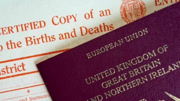 出生证和护照