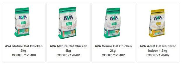 AVA Dry Cat Food Recall