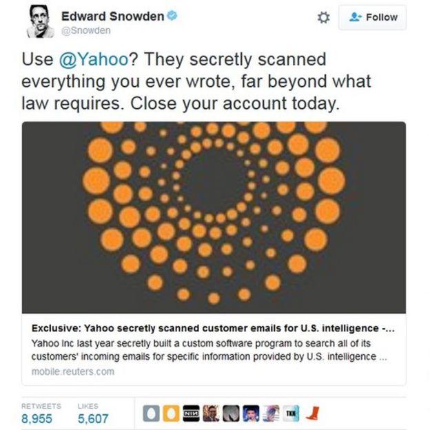 Yahoo revisa correos de usuarios por orden del FBI en EE.UU