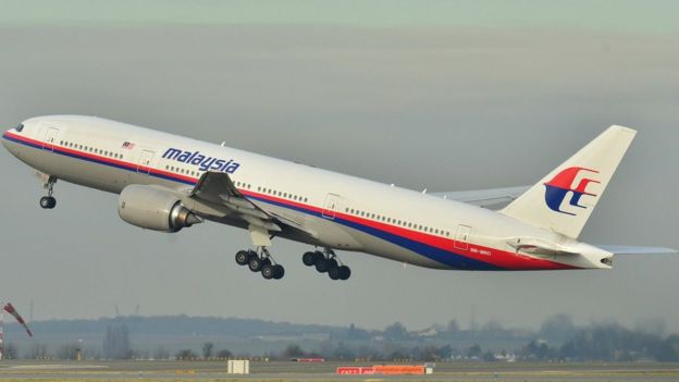 Foto do voo MH370, da Malaysia Airways