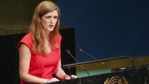 Samantha Power, la representante de EE.UU. ante la ONU