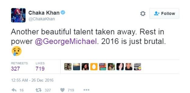 Chaka Khan tweets