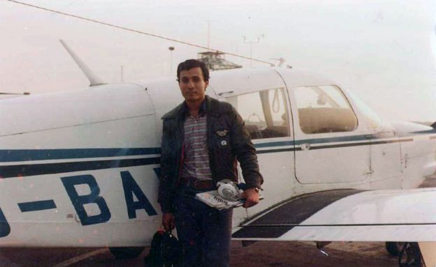 Surinder Arora as a young pilot