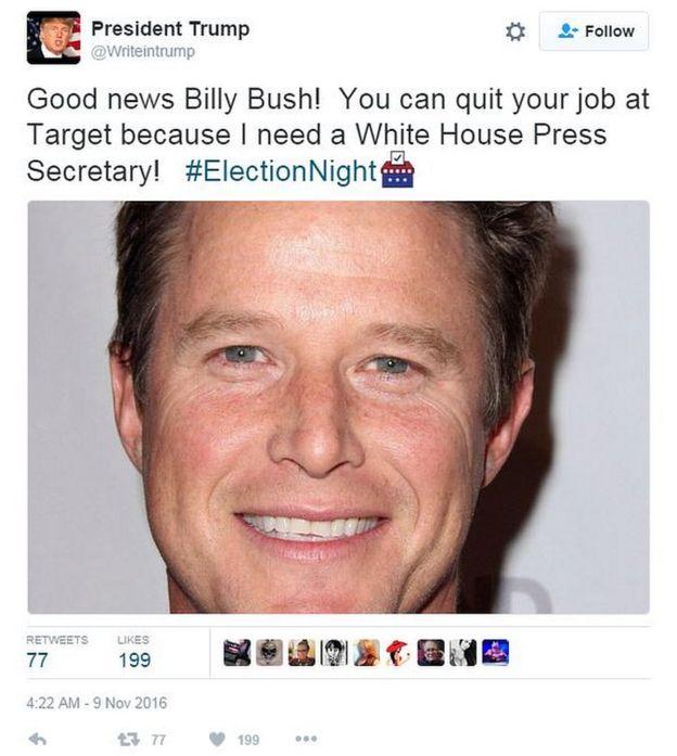 Tweet from @WriteinTrump