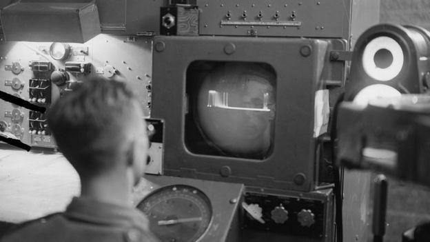 Radar operator, 1945