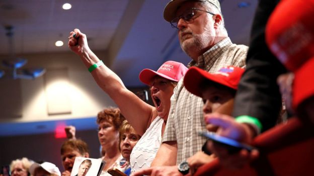Trump supporters in Altoona, Pennsylvania