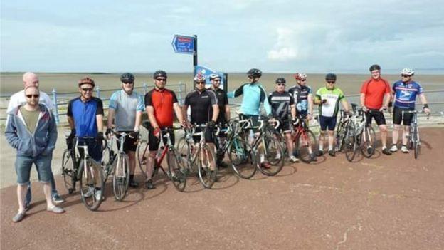 James Walker 100 cyclists