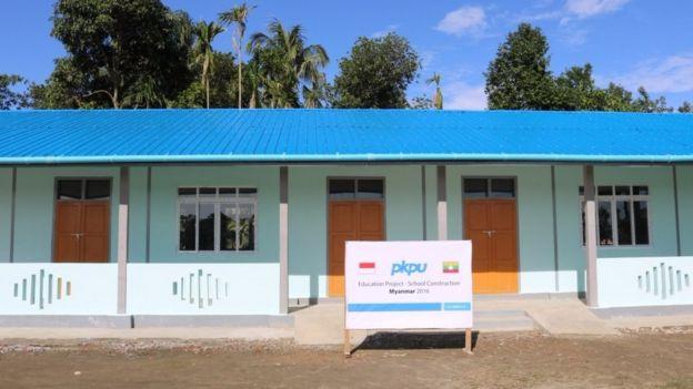 Gedung sekolah yang dibangun PKPU. Dua unit gedung SD diharapkan dapat menampung 300 siswa. Gambar: PKPU