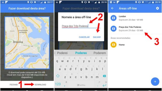 Passo a passo de como fazer download de mapa no aplicativo Google Maps
