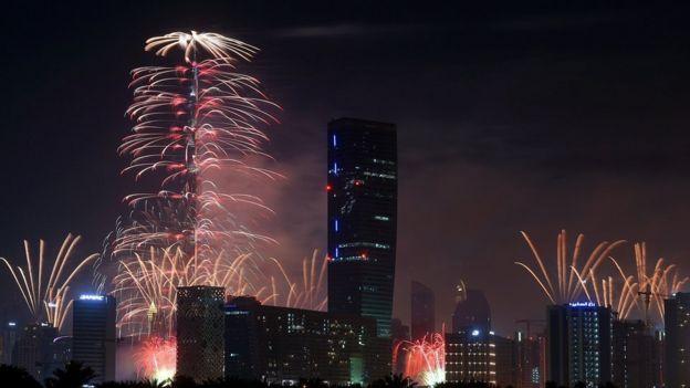 Fireworks in Dubaifd