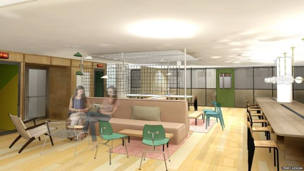 Artist's impression of new offices