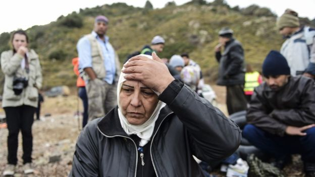 Syrian refugees in Lesbos