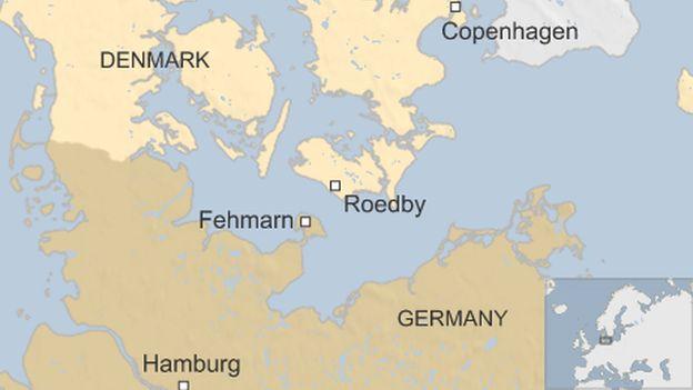 DenmarkGermany undersea Fehmarn tunnel gets goahead BBC News – Germany Denmark Map