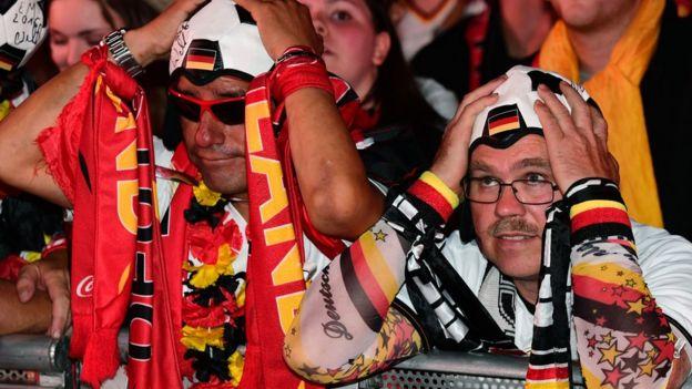 Aficionados alemanes.