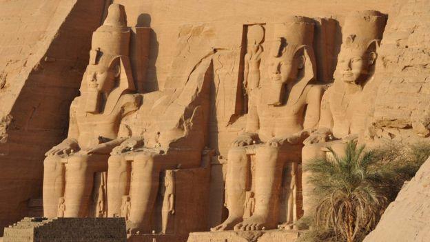 Los templos de Abu Simbel en Egipto.